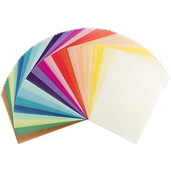 Papel transparente, DIN A4, 20 colores, 130 g/m2, papel colorido ...