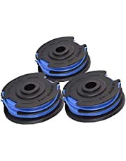 Greenworks Double Cord Spool for Greenworks Lawn Trimmer G40LT/2101507 (1.65mm Cord Diameter 4.8m Cord Per Spool, 3 Pieces Included)