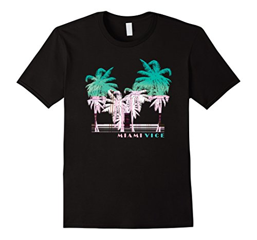 Miami Vice Green & White Palm Tree Shadows T-Shirt, 5 colors