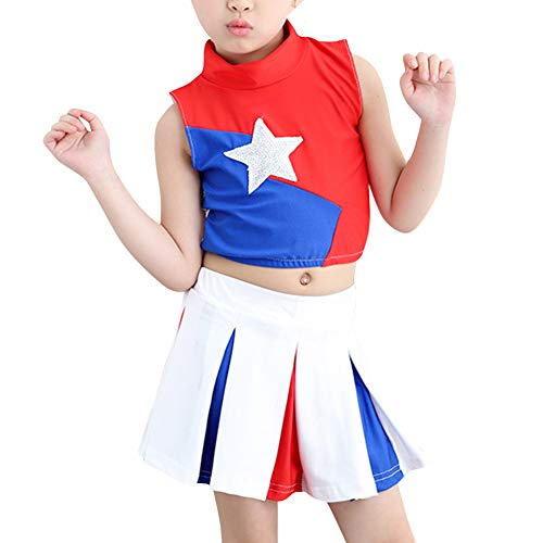 uirend Cheerleading Girls Boys Clothing - Children Pleated Uniform Carnival Set]()