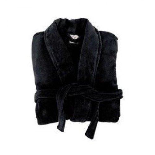 Negro suave o cama de matrimonio de casa pulsera de albornoz perchero albornoz negro son talla L para 12/14 ó 38/44 en el pecho