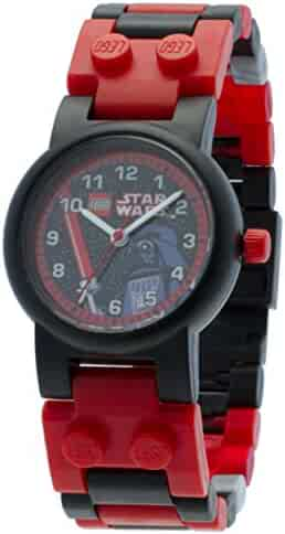 LEGO Kids' 9002908 Star Wars Darth Vader Watch with Link Bracelet and Minifigure