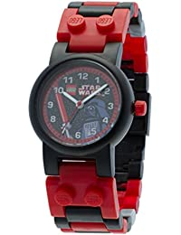 Star Wars Darth Vader Kids Buildable Watch with Link Bracelet and Mini Figure | red/black | plastic | 28mm case diameter | analog quartz | boy girl | official