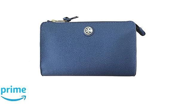 9b4534f5393 Tory Burch Cameron Easy Coated Canvas Cross-body   Clutch (Hudson Bay  Blue)  Handbags  Amazon.com