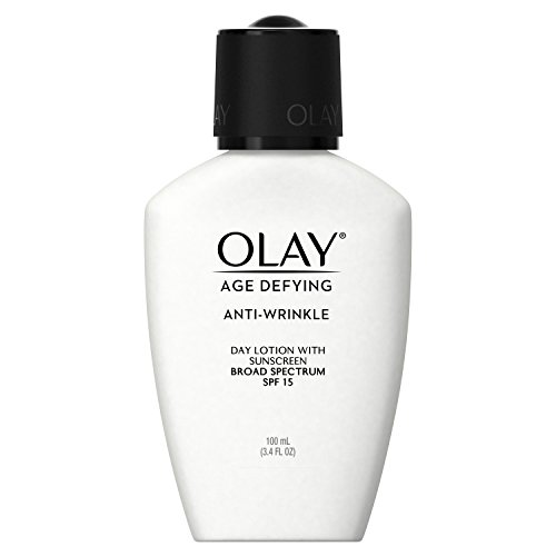 Face Moisturizer by Olay Age Defying, Anti-Wrinkle Day Lotion with Sunscreen Broad Spectrum , SPF 15, 3.4 Ounce (Pack of 2) Packaging may Vary