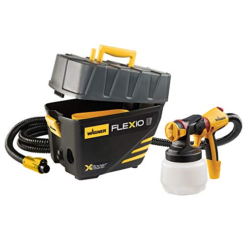 Wagner Spraytech 0529091 FLEXiO 5000 HVLP Paint Sprayer, Yellow, Black (Wagner 2 Step Pro Duty Power Painter)
