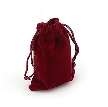 Amazon.com: 10pcs Bolsa de terciopelo rojo/joyas bolsa/bolsa ...