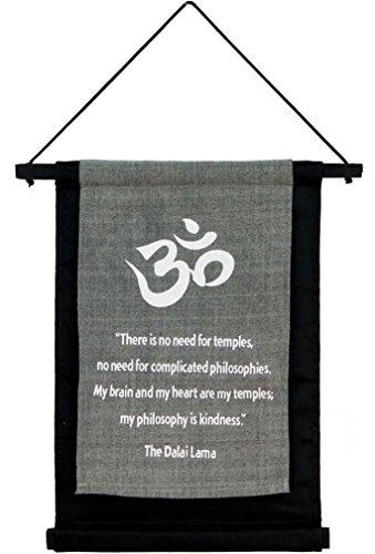 Buddha Card - Dalai Lama Cotton Banner by Imprints Plus 12.25