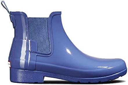 8a030365282 Hunter Original Women's Refined Chelsea Gloss Boot, Adder Blue, 7 M ...