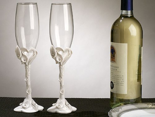 Calla Lily Toasting Glasses C404 Quantity of 1