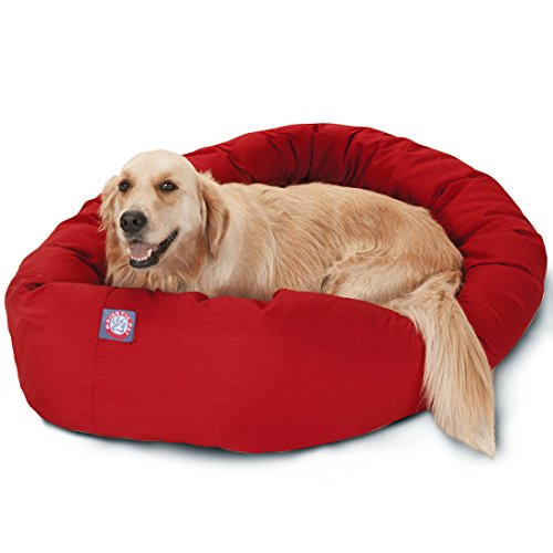 40 inch Red Bagel Dog Bed By Majestic Pet Products