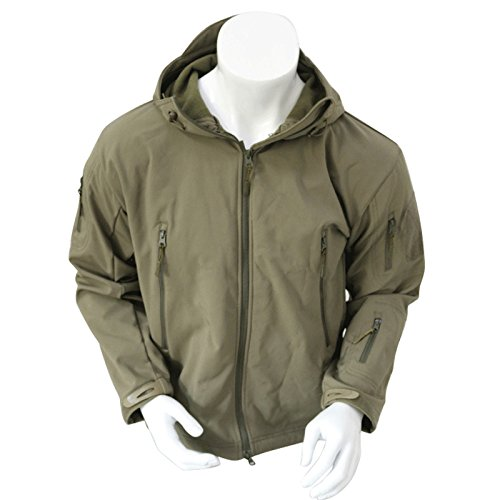 Men's Army Outdoor Military Special Ops Softshell Tactical Hooded Jacket Sports Windproof Hunting Jacket Green