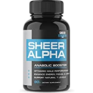 Sheer ALPHA Testosterone Booster Supplement - 800mg...