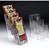 Marketing Holders Four Tier Plastic Literature Holder for Countertops