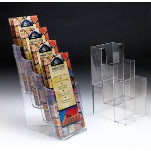 Marketing Holders Four Tier Plastic Literature Holder for Countertops by Marketing Holders