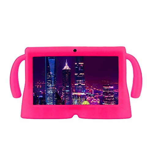 Price comparison product image Ikevan Universal Silicone Gel Protective Back Case Cover for 7 Inch Android Tablet Q88 (Hot Pink)