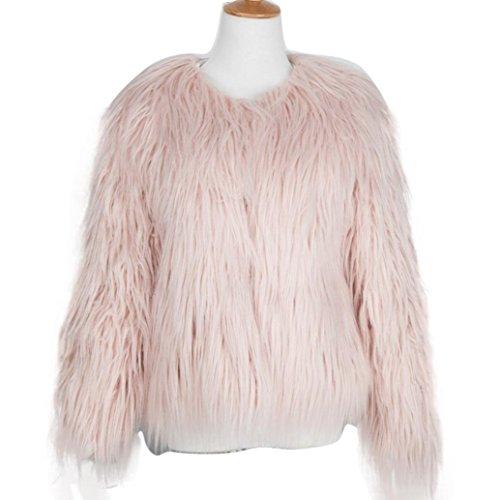 Vintage Women's Winter Warm Fluffy Faux Fur Coat Jacket Outwear Tops-3XL (Vintage Faux Fur Coat)