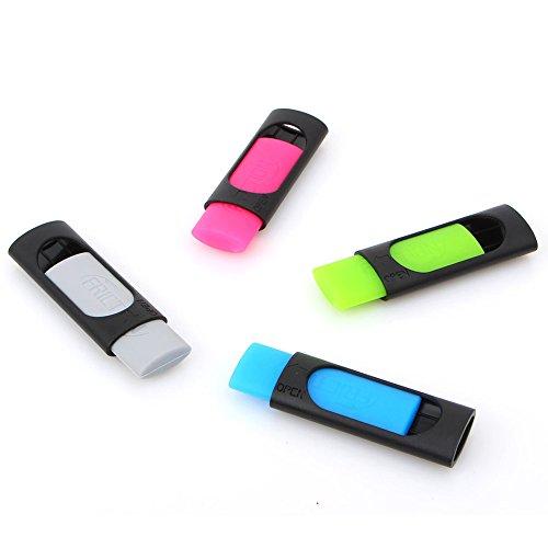 DDAYUP Friction Ink Eraser for Erasable Pen, Yellow green, Light blue,Grey (Set of 4 Color) by DDAYUP (Image #3)