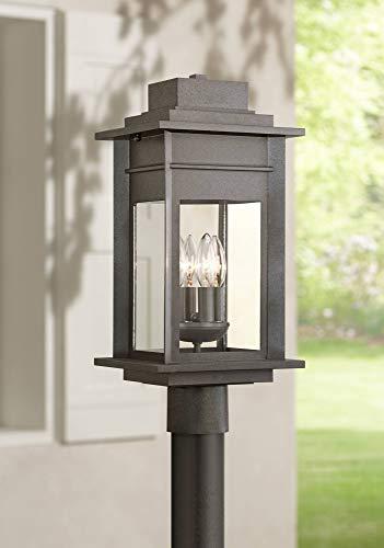 Bransford Outdoor Post Light Fixture Black Specked Gray 19 1/2