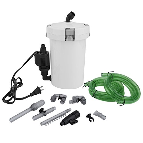 GOGOUP Ultra-Quiet External Canister Filter, HW-603B Portable Table Top 40 Gallon Aquarium Bucket Fish Tank for Fresh/Sea Water