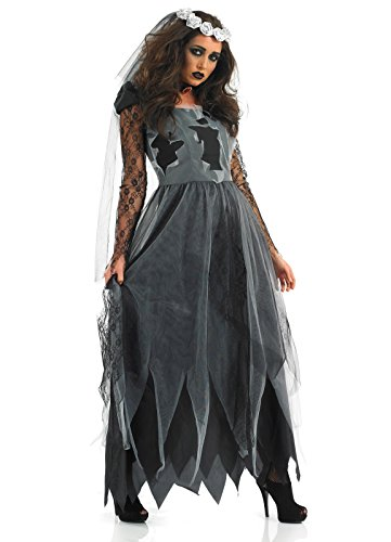 Plus Size Corpse Bride Costume (PINSE Plus Size Witch Zombie Bride Halloween Costume (XXL))
