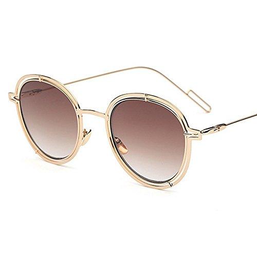 Personalizada B De Gafas Gafas Gafas JUNHONGZHANG Circular De Ahuecados Gafas Marea Colores Sol Actual Un Metal Sol Película De U141wFPqx