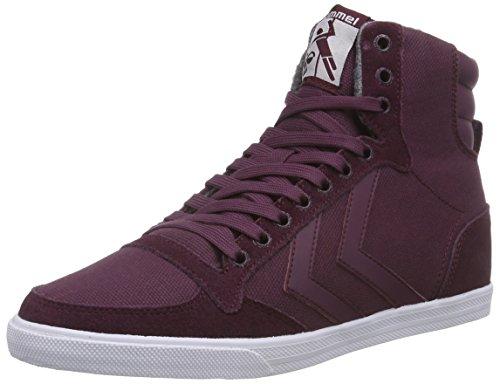 Hummel HUMMEL SLIMMER STADIL WAXED HI - zapatillas deportivas altas de lona Unisex adulto rojo - Rot (Grape Wine 3506)