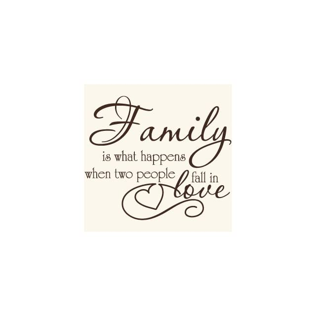 Family Love Quote Vinyl Wall Decal Sticker Art Words/Lettering Home Décor