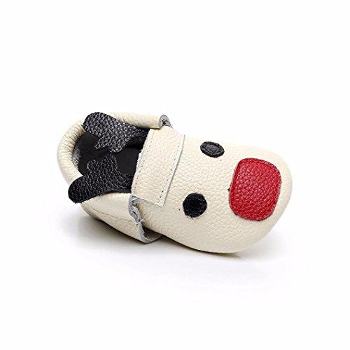 SYY 0-2 Jahre alt Baby Kleinkind Neugeborene Mädchen Jungen Cartoon Weiche Sohle Deer Nette Schuhe Beige