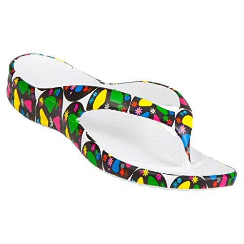 DAWGS Womens' Flip Flops Peace Size 6 ()