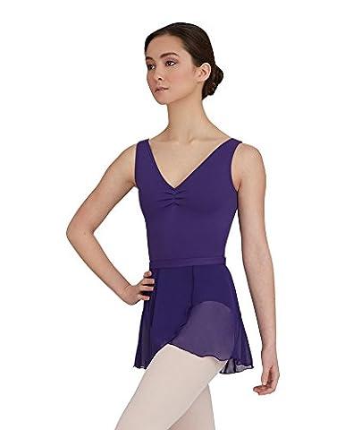 Capezio Dance Women's Wrap Skirt,Deep Purple,US M/L - Capezio Wrap Skirt