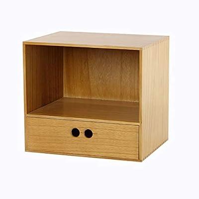 Archivadores HUXIUPING Caja de Almacenamiento Caja de Almacenamiento de Escritorio Cajón Combinado Oficina Papelería (Color : Tea Brown)