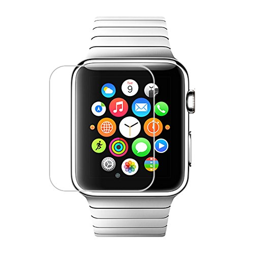 [Scratch Terminator] MoKo Premium HD Clear Japanese Asahi 9H Hardness Tempered Glass Screen Protector Film with Oleophobic Coating for Apple Watch 42mm 2015, Crystal Clear (Will Not Fit Apple Watch 38mm or Any Other Device)