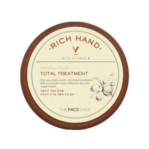 The Face Shop Rich Hand V Hand & Foot Total Treatment 110ml/3.72 - Rich Shop The