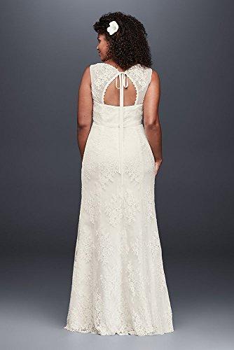 Plus Bridal Empire Ivory Dress Wedding V Style Waist 9KP3803 Size Neck David's Upxnfq0q