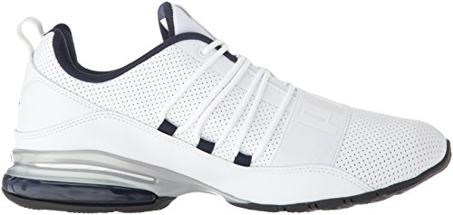 PUMA Men's Cell Regulate SL Sneaker, White Black-Peacoat Silver, 7 M US by PUMA (Image #6)