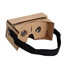 fengus Google Cardboard Virtual Reality 3D VR Glasses for Android IOS Mobile iPhone with NFC and Head-strap / Compatible with Maximum 6.0 inches