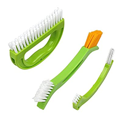 8th team ?3 pieces a pack )Grout Cleaner Brush - Tile Joint Cleaning Scrubber Brush with Nylon Bristles - Great Use for Shower, Floors, Kitchen and Other Household