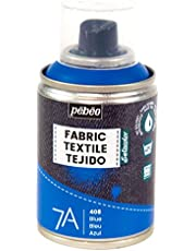 Pébéo - Fabric Paint Spray for Textiles 7A Spray - Natural and synthetic fabrics - Water-based - Solvent-free - Permanent Fabric Dye Machine-Washable - Spray Paint for textile design - 100ml - Blue