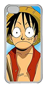 iPhone 5C Case, iPhone 5C Cases - Protective Crystal Clear Hard Case for iPhone 5C Monkey D Luffy One Piece Manga Anti-Scratch Clear Back Case for iPhone 5C