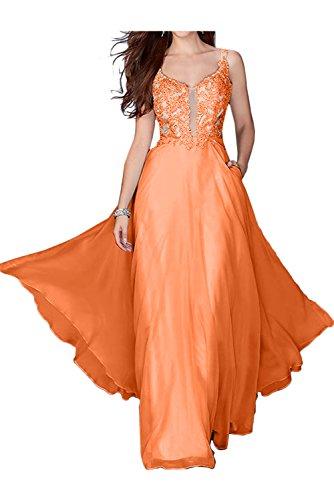 Toskana novia of Cake Forma de Corazón tuell Noche para ropa largo novia Party Ball naranja