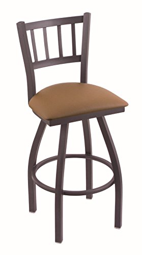 41Gi4prr46L - Holland-Bar-Stool-Co-810-Contessa-30-Bar-Stool-with-Pewter-Finish-and-Swivel-Seat-Allante-Beechwood