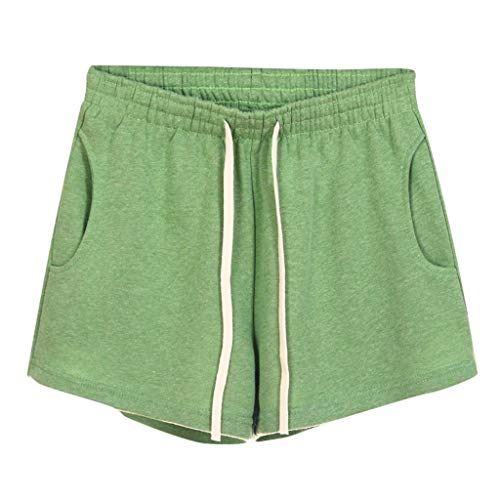 - VEZAD Pocket Sweatpants Shorts ,Women Casual Solid Elastic Waist Loose Shorts Gym Sport Pants