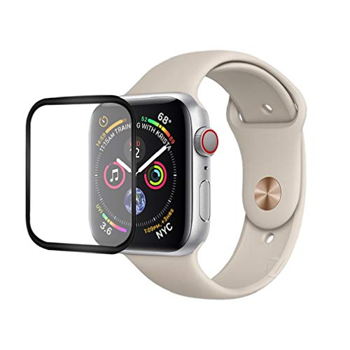 Price comparison product image SUKEQ Screen Protector for New Apple Watch Series 4 Screen Protector (40mm),  Premium 3D 9H Hardness Ultra Slim Full Coverage Tempered Glass Screen Protector for iWatch Series 4 40mm