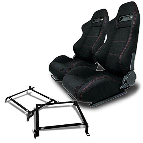 Seats Racing Acura Integra - Pair of RSTRBK Racing Seats+Mounting Bracket for Honda Civic/Acura Integra Sedan & Coupe