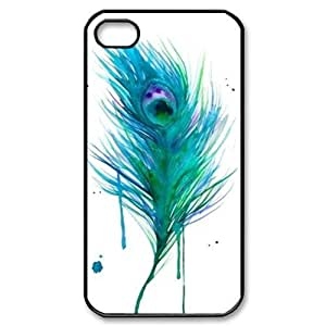 Beautiful Peacock Feather For Apple Iphone 4/4S Case Cover Third Eye Customized Back For Apple Iphone 4/4S Case Cover
