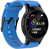 SUNEVEN Garmin Forerunner 225 GPS-horlogeband, zachte siliconen verstelbare vervangende polshorlogeband + hoes voor Garmin Forerunner 225 GPS-horloge