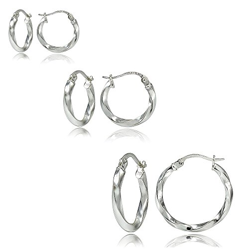 Hoops Loops Sterling Silver Earrings
