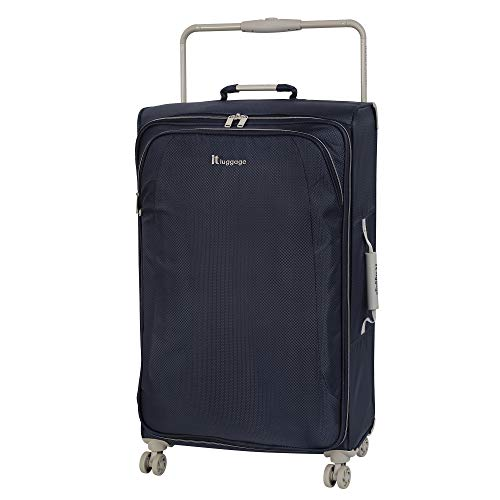 IT Luggage 31.5' World's Lightest 8 Wheel Spinner, Evening Blue With Cobblestone Trim