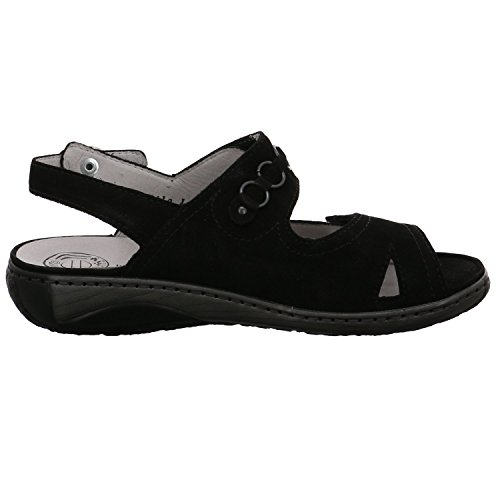 Schwarz 210004 001 Schwarz Noir Waldläufer Sandalettes 191 Femmes gX1wq1ExB